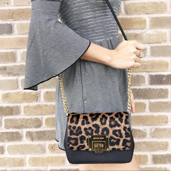 a19dd0414aa4 Michael Kors Tina MK Signature Mini Crossbody Bag